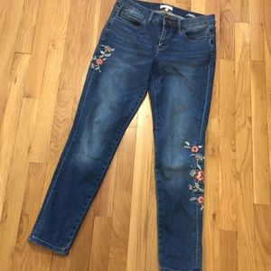 Embroidered Nicole Miller Jeans